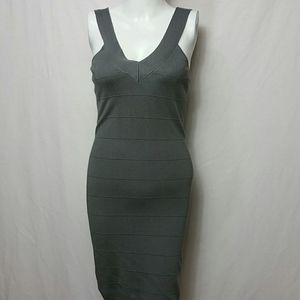 Guess New LARGE Gray Body Con Dress fitted